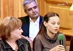 Мария Аронова, Анна Дубровская и директор театра Сергей Сосновский